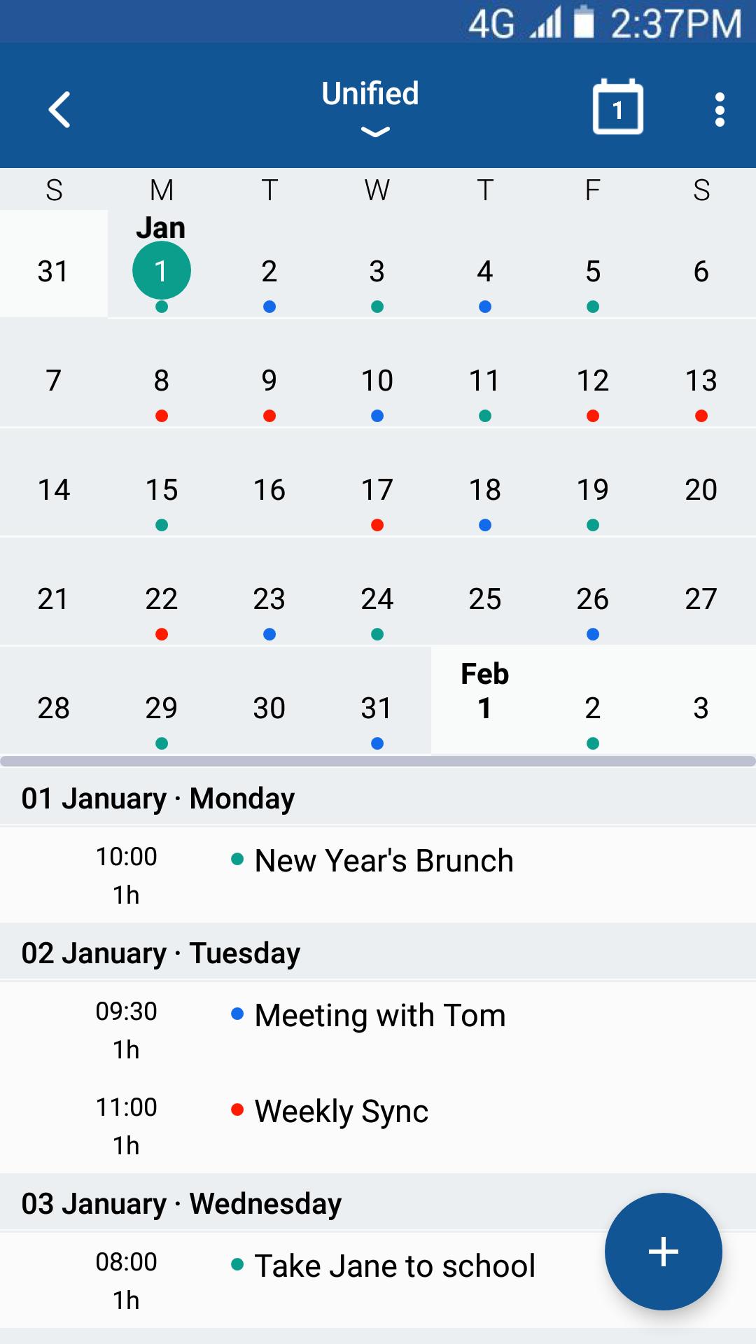 photo calendar app